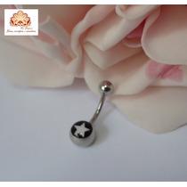 Piercing Para Umbigo Aço Cirurgico Com Símbolo, Estrela
