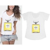 Camisetas T-shirts Femininas Perfume Amarelo N5