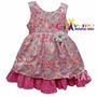 Vestido Para Bebê De Festa Infantil Com Tiara De Brinde