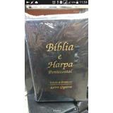 Biblia Sagrada E Harpa Let Gigante Luxo Preta Promocao