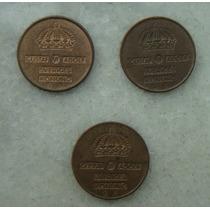 Suécia 1 Ore 3 Moedas 1964,68,67 Gustaf V I Adolf 15mm Bron.