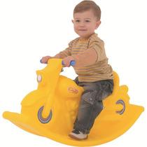 Gangorra Infantil Moto Balanço Amarelo - Xalingo