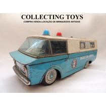 Brinquedo Antigo - Carro Polícia De Lata - Japan - 60