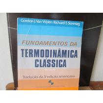 Van Wylen/ Sonntag. Fundamentos Da Termodinamica Classica