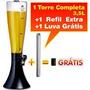 Torre De Chopp Ou Cerveja 3,5litros + 01 Refil Adicional