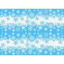 Tnt Estampado - Decorado - 10mts Frozen Neve