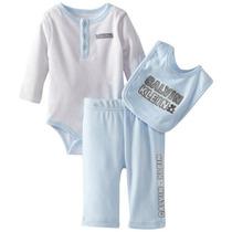 Conjunto Body Babador E Calça Bebê Infantil - Calvin Klein