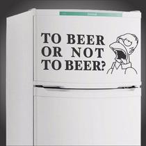 Adesivos Geladeira Parede Homer Simpson Cerveja Frete Grátis