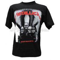 Camisa De Manga Curta Rock Banda Metallica Death Magnetic