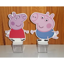 10 Enfeites De Mesa De Aniversário Tema Peppa Pig