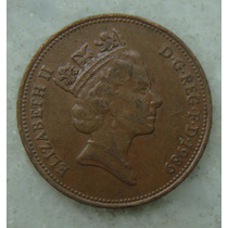 2182 Inglaterra 1989 Two Pence Elizabeth I I 26mm - Bronze