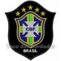 Patch Bordado Copa 2014 Seleção Brasil Cbf Pt Gr 17cm Sel24