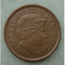 2184 Inglaterra 2001 Two Pence Elizabeth I I 26mm - Bronze
