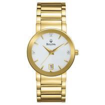 Relógio Bulova Feminino Wb21972h. Analógico E Calendário.