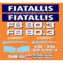 Kit Adesivos Fiatallis Fb 80.3 - Decalx