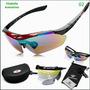 Oculos Sol Ciclista Ciclismo Wolfbike C/ 5 Lentes 1 Polariz