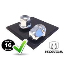 Porca De Roda Cromada Honda Civic, Fit, City, Cr-v,..(c/16)