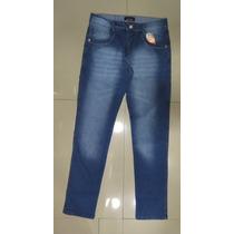 Calça Jeans Escuro Masculina Boca Medio - A Pronta Entrega