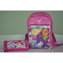 Kit Conjunto Infantil Mochila Escolar Estojo Friends