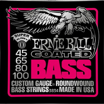 Encordoamento Baixo Ernie Ball 3834 4 Cordas 045/100 Coated