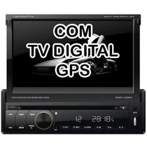 Dvd Retrátil Napoli 7968 Tv Digital Gps Bluetooth Usb Ipod