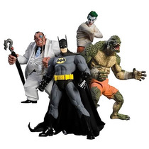 Batman Arkham Asylum - Batman, Joker, Killer Croc E Pinguin