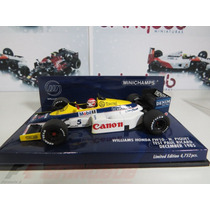 1:43 Minichamps Williams Honda Fw10 Piquet Test Paul Richard