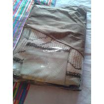 Uma Colcha Para Berço+almofada+cortina-tecido Piquê + Crochê