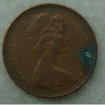 2196 Inglaterra 1971 Two Pence Elizabeth I I 26mm - Bronze
