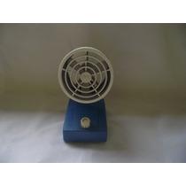 Antigo Ventilador De Mesa Azul E Branco(cod.269)