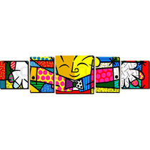 Romero Britto - The Hug - O Abraço