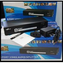 Distribuidor Transmissor Swt-mt-108av 8 Portas Audio Video
