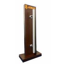 Puxador De Alumínio Duplo Escovado 60cm Porta Pivotante