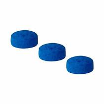 Sola De Couro 12 Mm Azul Para Taco De Sinuca 3 Peças (11423)