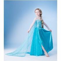 Frozen Vestido Fantasia Elsa Disney C/cauda Promoção 2 A 11a