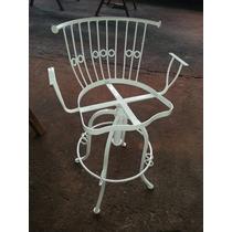 Cadeira E Ferro Nas Cores Preta Ou Branca Ou Patina Dourada