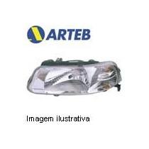 0160653 Farol Esquerdo Arteb P/ Gol G3 99..06 H4 C/defletor