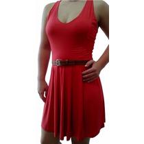 Vestido Graziiela Vermelho - Viscose Com Elastano - G, M E P