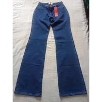 Calca Feminina Infantil Sul Jeans Denim Para 10 Anos
