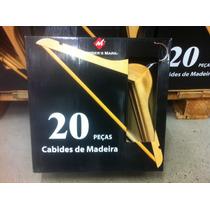 Kit Com 20 Cabides De Madeira. Produto Importado. Promoção!