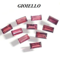 Leilão Lote 10 Gemas Rodolita Baguette Natural G736 Gioiello