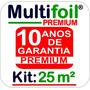 Manta Térmica Subcobertura Telhado 2 Faces (premium) 25 M²