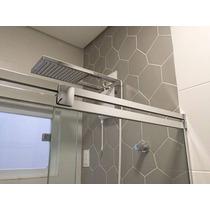 Kit Box Banheiro Ônix F1 Cromado 1,50m Vidro Temperado