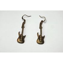 Brinco Guitarra Rock Música Bijuteria Criativa Bijoux