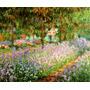 Jardim Da Casa Do Artista Em Giverny Monet Grande Tela Repro