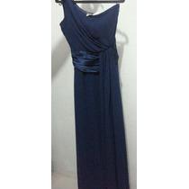 Vestido Longo Chiffon Azul Royal - Nunca Usado (novo)