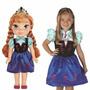 Boneca Princesas Ana Anna Do Filme Frozen + Vestido Infantil