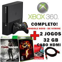 Xbox 360 Slim 4gb + 32gb + Brindes - Console Barato Vitrine