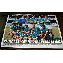 Poster Do Palmeiras - Campeão Brasileiro 72