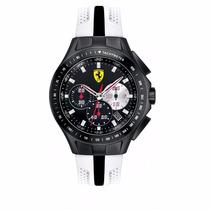 Relógio Ferrari Scuderia 0830026 Preto Branco Original